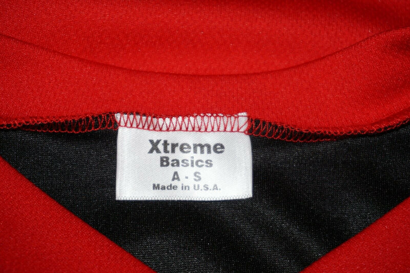 XTREME BASICS SR S HOCKEY RED BLACK JERSEY - ADULT SMALL ICE OR ROLLER USED - EZ Monster Deals