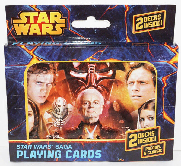 STAR WARS SAGA DARK SIDE & LIGHT PREQUEL CLASSIC CHARACTERS PLAYING 2 DECK CARDS - EZ Monster Deals