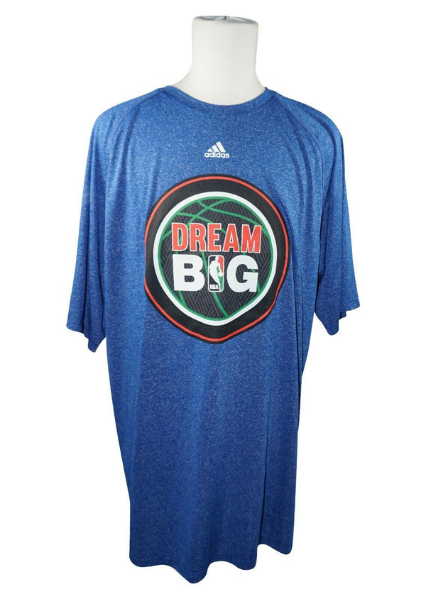 NBA DREAM ADIDAS BASKETBALL SHIRT SIZE XLT - NAVY BLUE WASH T-SHIRT USED 2014 - EZ Monster Deals