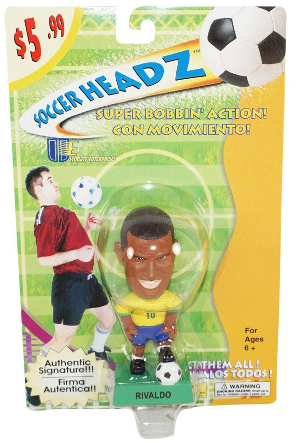 "RIVALDO FERREIRA TEAM BRAZIL SOCCER HEAD - FÚTBOL 4"" BOBBLE TOY FIGURE 2002 NEW - EZ Monster Deals"