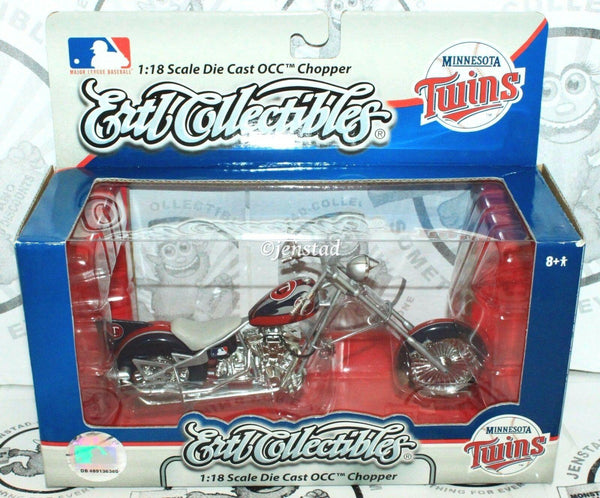 MINNESOTA TWINS BASEBALL 1:18 DIECAST TOY OCC CHOPPER MOTORCYCLE ERTL MLB 2007 - EZ Monster Deals