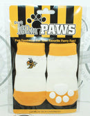 ONE PACK OF 4 DOG SOCKS & SQUEAK TOY - TEAM PAWS GEORGIA TECH UNIVERSITY LARGE - EZ Monster Deals