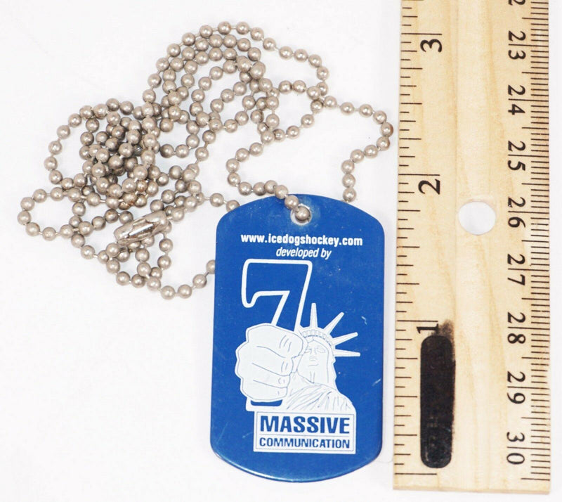 "NECKLACE 16"" CHAIN W/ ID TAG - LONG BEACH ICE DOGS MINOR LEAGUE HOCKEY USED - EZ Monster Deals"