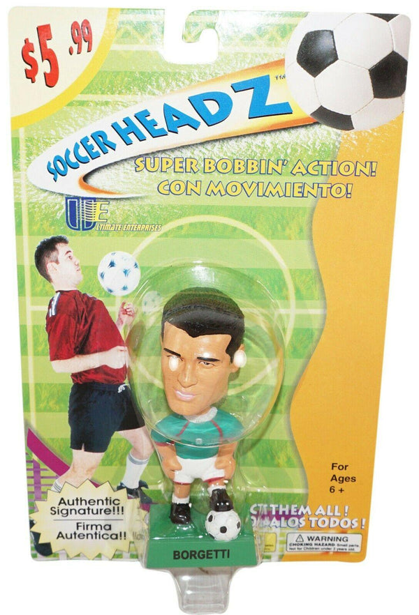 "JARED BORGETTI TEAM MEXICO SOCCER HEAD - FÚTBOL 4"" BOBBLE TOY FIGURE 2002 NEW - EZ Monster Deals"