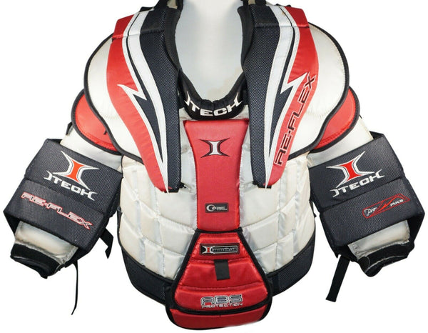 ITECH REFLEX RX9 GOAL SENIOR SMALL GOALIE CHEST & ARM HOCKEY PAD PROTECTOR USED - EZ Monster Deals