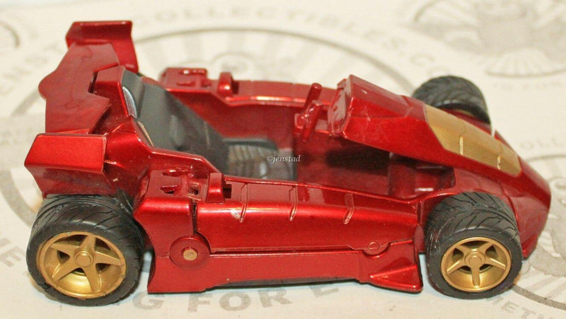 IRON MAN 2 TURBO RACER 2010 HASBRO TOY RACING CAR PULL BACK & GO VEHICLE USED - EZ Monster Deals