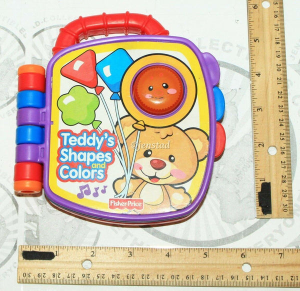 FISHER PRICE COLORS AND SHAPES KIDS SONG STORY SOUNDING LEARNING BOOK USED 2008 - EZ Monster Deals