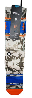 NEW YORK NY METS ADULT 9-12 LARGE - STADIUM SOCKS MLB BASEBALL NEW 2015 - EZ Monster Deals