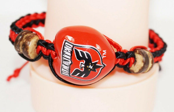 DC UNITED MLS - SINGLE KUKUI NUT MACRAME + BRAID BRACELET SOCCER FUTBOL NEW - EZ Monster Deals