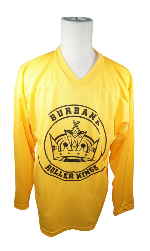 XTREME BASICS SR S BURBANK HOCKEY YELLOW JERSEY #73 ADULT SMALL ICE ROLLER USED