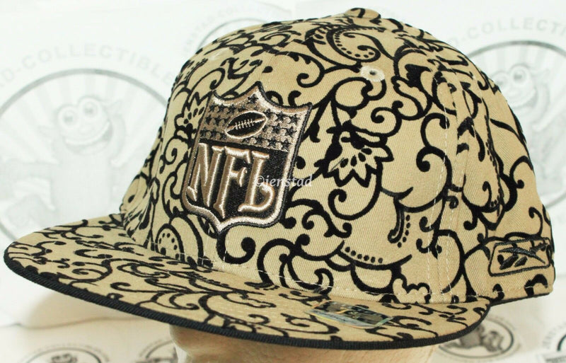 REEBOK NFL FOOTBALL FLOCKED LOGO - FLAT BILL HAT FITTED 7 1/2 CAP NEW - EZ Monster Deals
