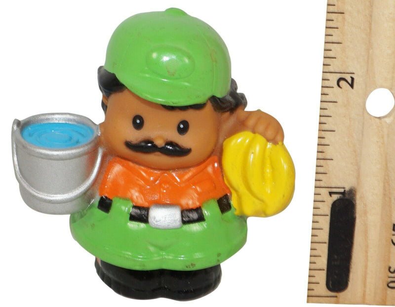 "BOY ZOOKEEPER LITTLE PEOPLE - FISHER PRICE 2.5"" TOY FIGURE MATTEL USED 2004 - EZ Monster Deals"