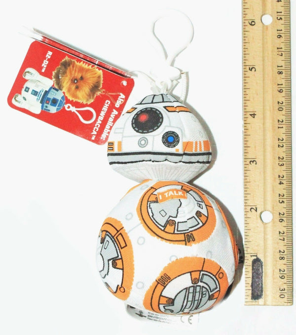 BB-8 TALKING SOUNDING PLUSH TOY - STAR WARS STUFFED FIGURE + KEYCLIP NEW 2015 - EZ Monster Deals