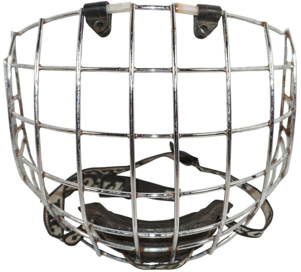 ITECH FULL FACE SILVER CAGE SR LARGE IT-13 - FOR ADULT HOCKEY HELMET USED - EZ Monster Deals