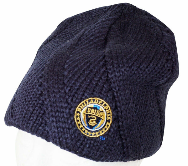 PHILADELPHIA UNION MLS SOCCER - DARK BLUE BEANIE CAP ONE SIZE NO CUFF NEW 2012 - EZ Monster Deals