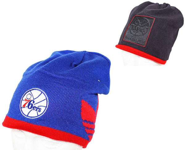 ADIDAS PHILADELPHIA 76ERS - BLUE/BLACK BEANIE REVERSIBLE CAP NBA BASKETBALL 2014 - EZ Monster Deals