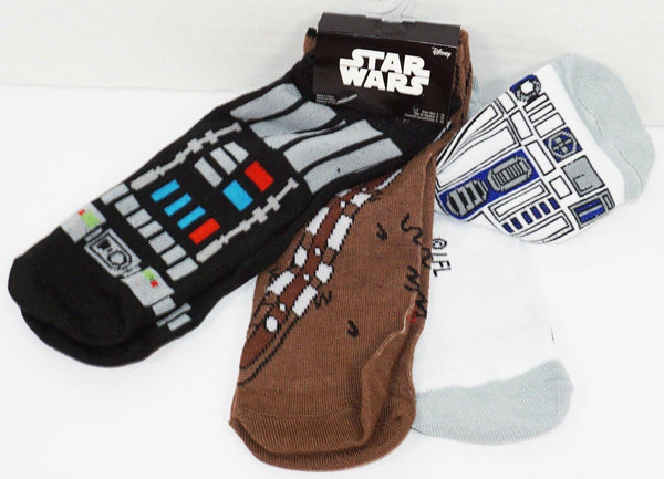 DISNEY STAR WARS 3 PACK 1 SET LOW CUT SOCKS ADULT SHOE SZ 7-12 HYP 2016 STYLE #2 - EZ Monster Deals