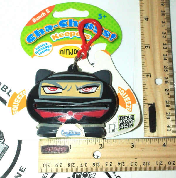 NINJOE NINJA KEEPER CHA-CHING - BUNCH 2 VINYL TOY COLLECTIBLE KEYCHAIN CLIP 2011-EZ Monster Deals