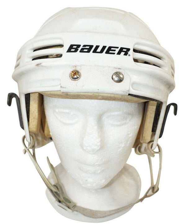 "BAUER ICE HOCKEY WHITE SR HELMET HH4000L - ADULT SENIOR LARGE 21.5""-23.4"" USED - EZ Monster Deals"