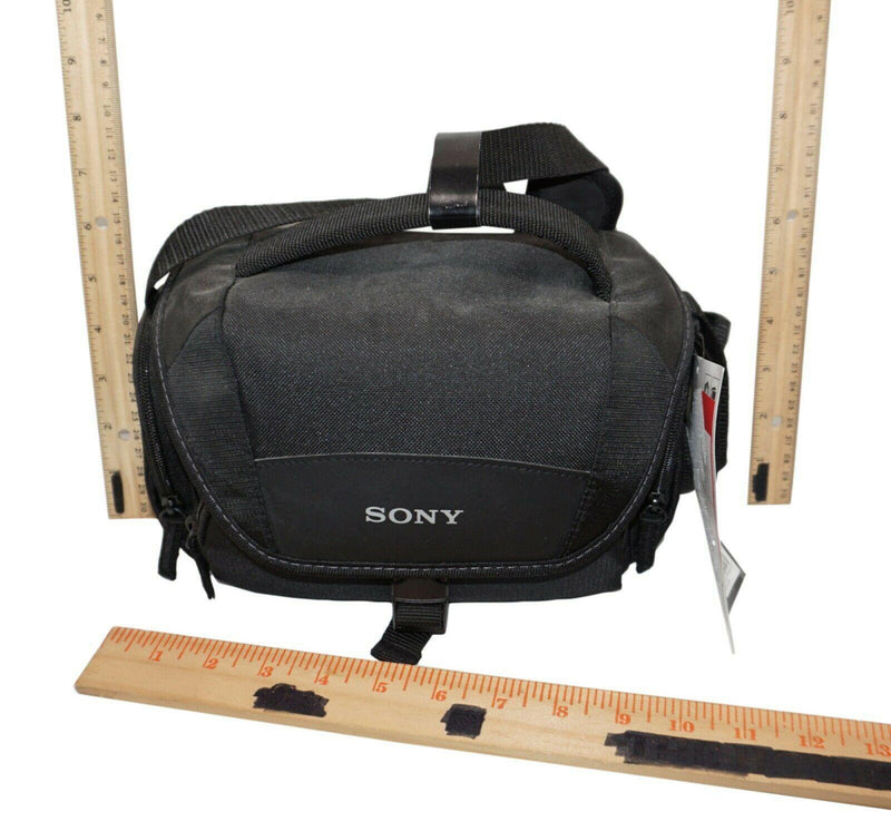 SONY LCSU21 PADDED SOFT CARRYING CASE - FOR SMALL TO MEDIUM CAMERAS BLACK NEW - EZ Monster Deals