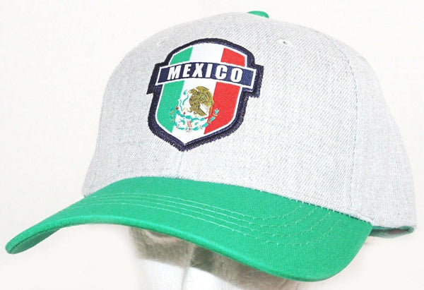 TEAM MEXICO FUTBOL SOCCER ADJUSTABLE GREEN GREY HAT CAP #1 ICON SPORTS NEW 2018 - EZ Monster Deals