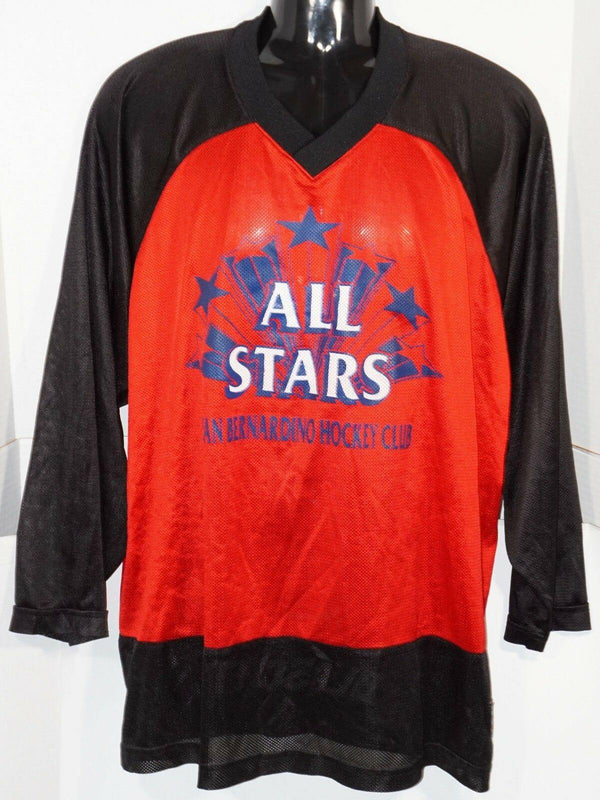 HOCKEY JERSEY M/L - RED & BLACK ICE OR ROLLER ADULT SR MEN MEDIUM/LARGE USED - EZ Monster Deals