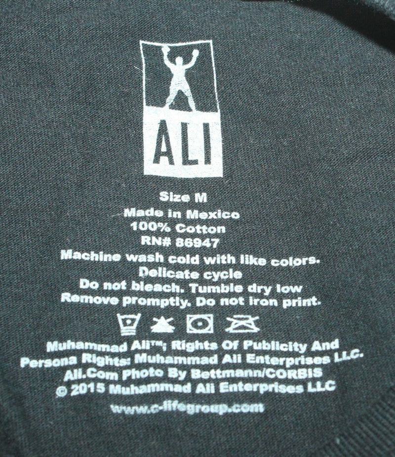 MUHAMMAD ALI TRIBUTE MENS MEDIUM OR WOMEN BLACK GREATEST OF ALL TIME SHIRT