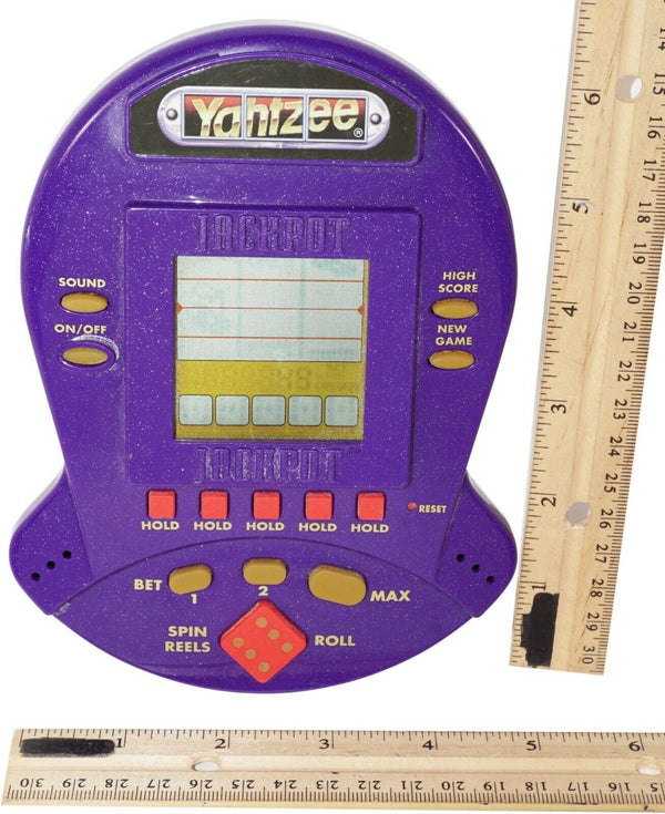 YAHTZEE JACKPOT HAND HELD TRAVEL ELECTRONIC CASINO STYLE GAME USED 1999 - EZ Monster Deals