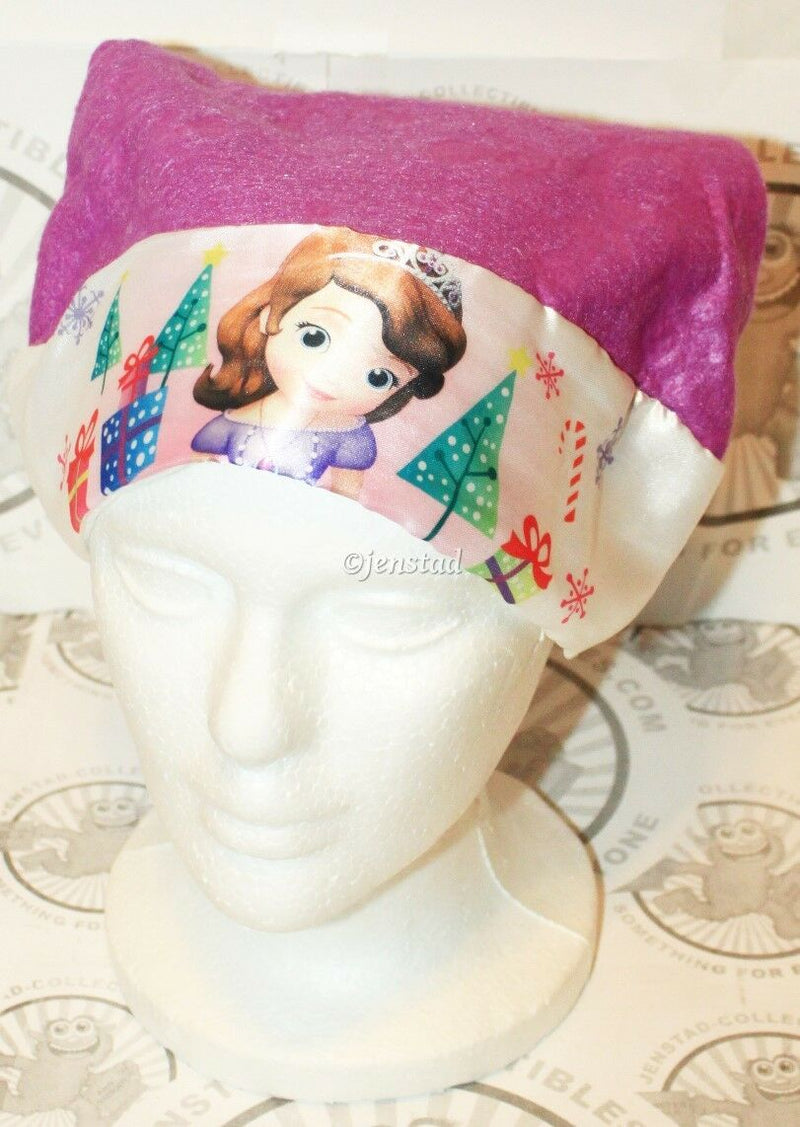 "SOFIA THE FIRST SANTA PURPLE HAT CHRISTMAS OR CASUAL DISNEY 15.5"" WOMEN GIRL NEW - EZ Monster Deals"