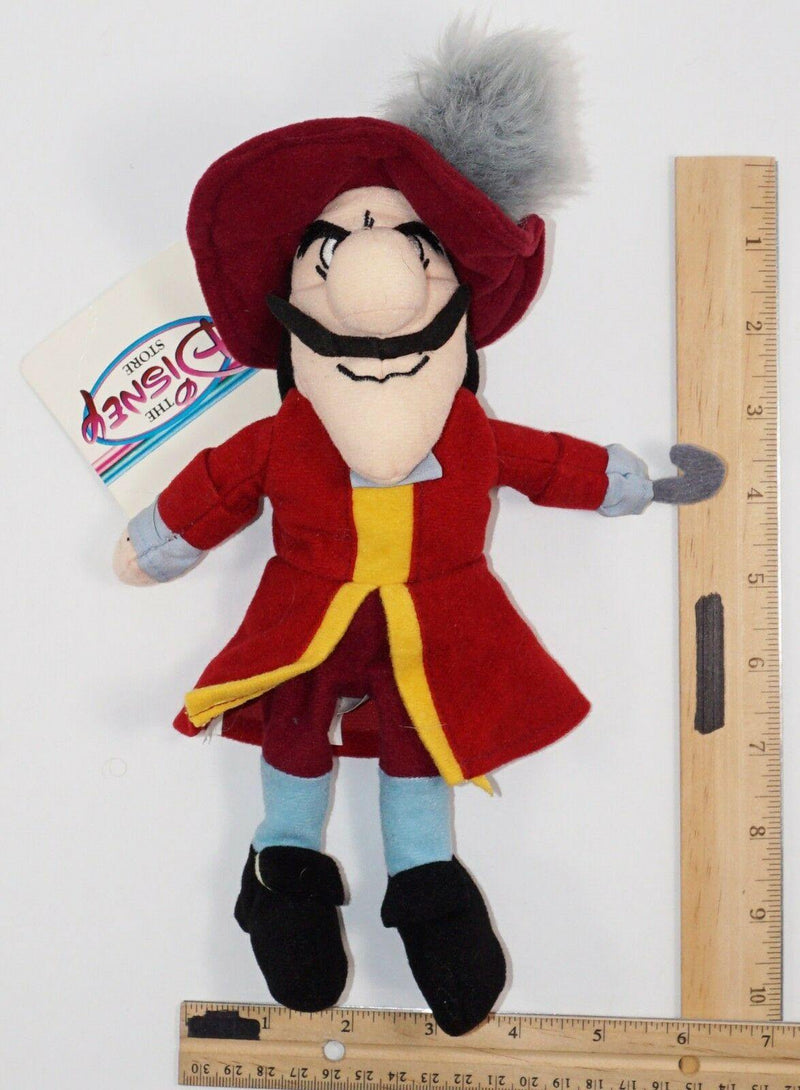 "HOOK PIRATE FROM PETER PAN 8"" PLUSH BEANBAG TOY - EXCLUSIVE DISNEY STORES USED - EZ Monster Deals"
