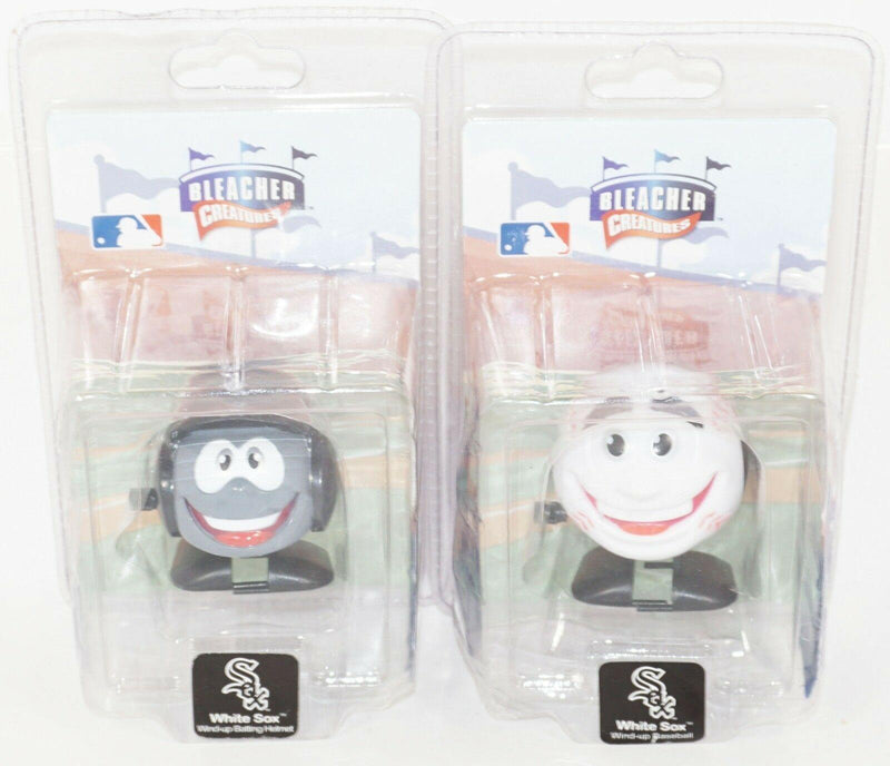2 LOT CHICAGO WHITE SOX - MLB WIND-UP BASEBALL & TEAM HELMET BLEACHER CREATURES - EZ Monster Deals