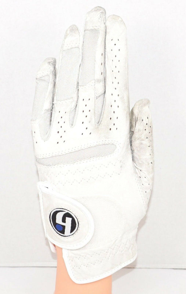 GENERIC LADIES MEDIUM - LEATHER WHITE LEFT GOLF GLOVE USED & CLEANED - EZ Monster Deals