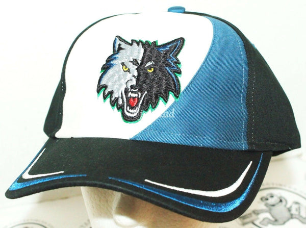 MINNESOTA TIMBERWOLVES - NBA BASKETBALL TRICOLOR CAP HAT EMBROIDERED LOGO NEW-EZ Monster Deals