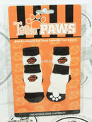 ONE PACK OF 4 DOG PET SOCKS - TEAM PAWS NCAA OKLAHOMA STATE UNIVERSITY SMALL NEW