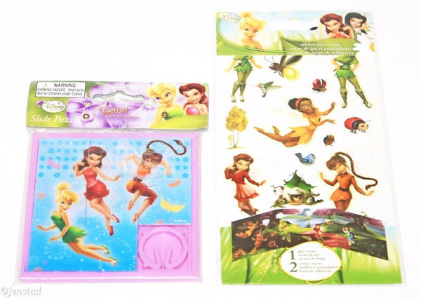 2 LOT - TINKERBELL DISNEY GREAT FAIRY RESCUE TOY SLIDE FAIRIES PUZZLE + STICKERS - EZ Monster Deals