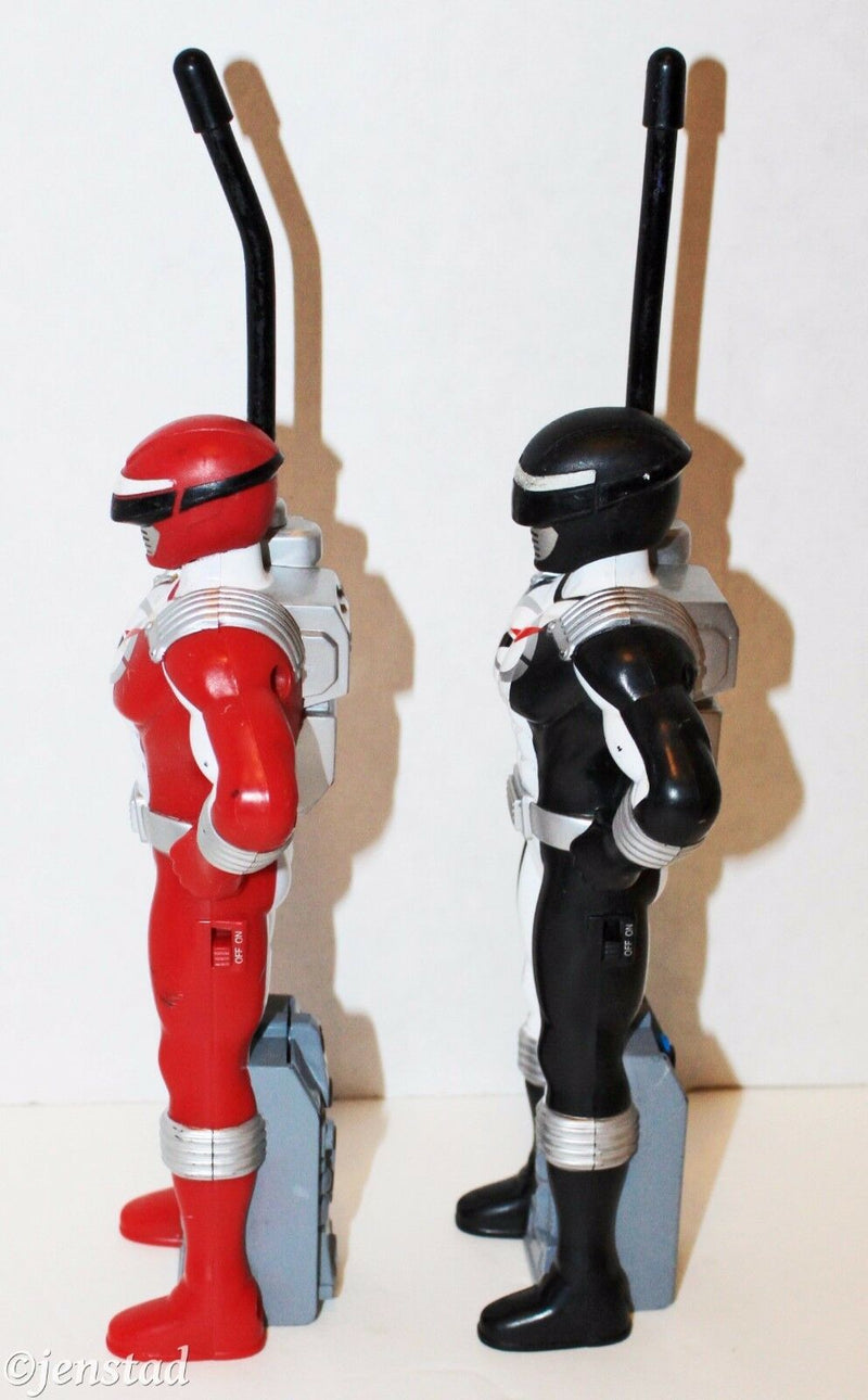 OPERATION OVERDRIVE WALKIE TALKIE RED AND BLACK POWER RANGERS FIGURES 2006 USED