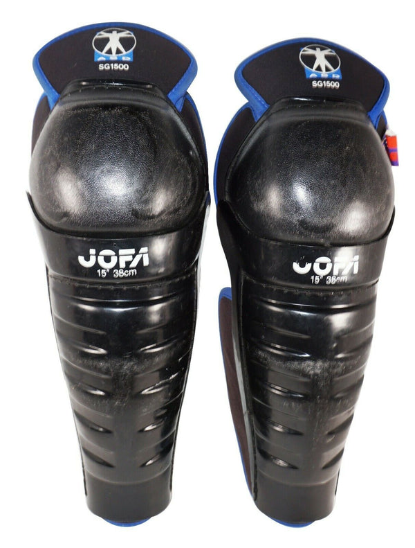 "JOFA 1500 HOCKEY SR SHIN GUARDS - ASD SG1500 ADULT SENIOR SIZE 15"" USED-EZ Monster Deals"