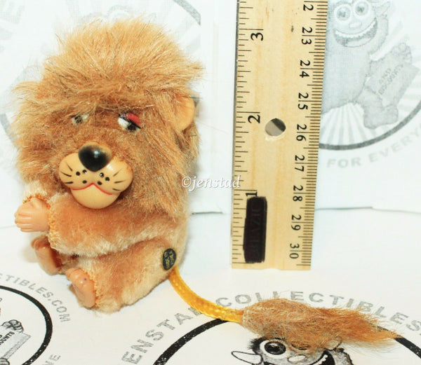 "DAKIN CLIP-ON HUGGER PLUSH LION CLASP TOY PLUSH 3"" VINTAGE 1970/80s FIGURE NEW - EZ Monster Deals"