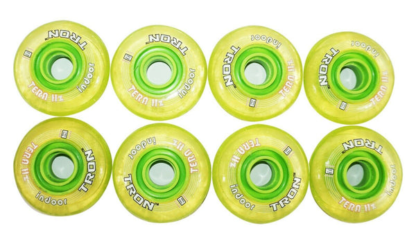 ONE PACK - 8 TRON TERA HZ INDOOR INLINE ROLLER 72MM 74A HOCKEY WHEELS NEW
