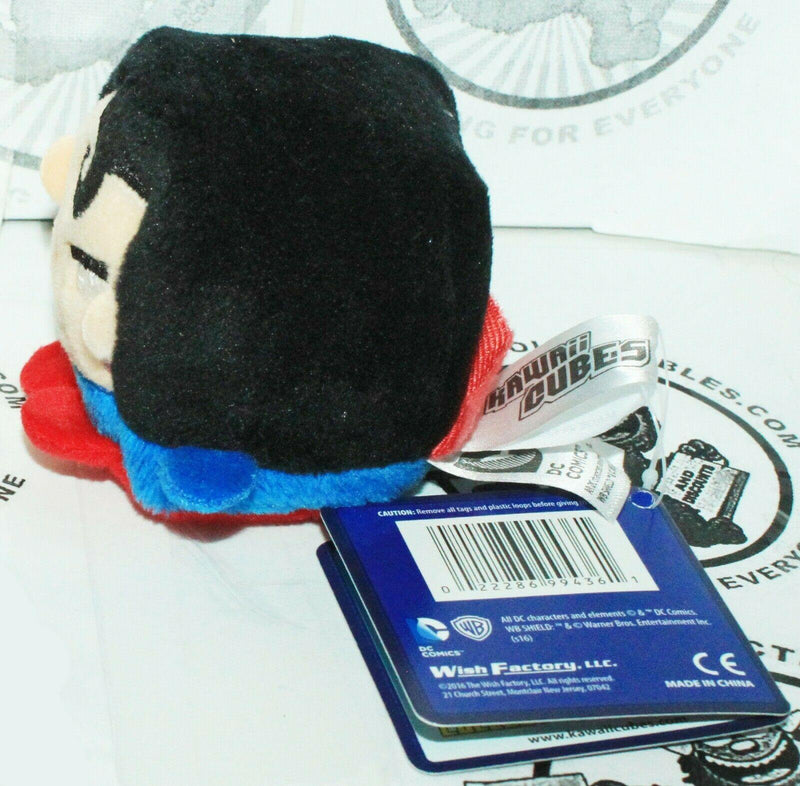 "SUPERMAN DC COMICS KAWAII CUBE SERIES 1 - MINI 2"" PLUSH TOY STUFFED FIGURE 2016 - EZ Monster Deals"