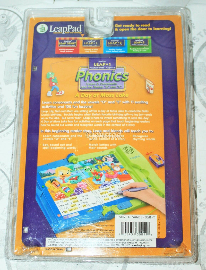 LEAP-PAD PHONICS BOOK + CARTRIDGE LEAPFROG LESSON