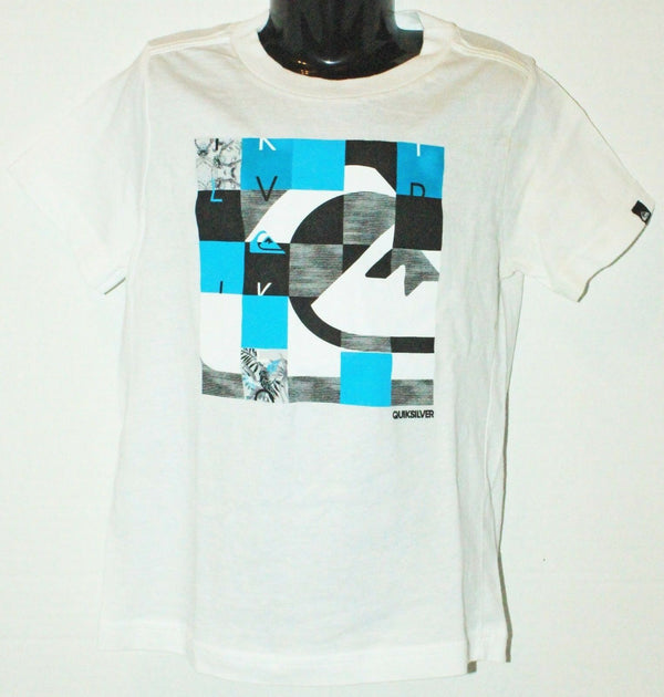 QUIKSILVER LOGO BRAND - KIDS TSHIRT APPAREL WHITE SHIRT YOUTH SIZE 4 - EZ Monster Deals