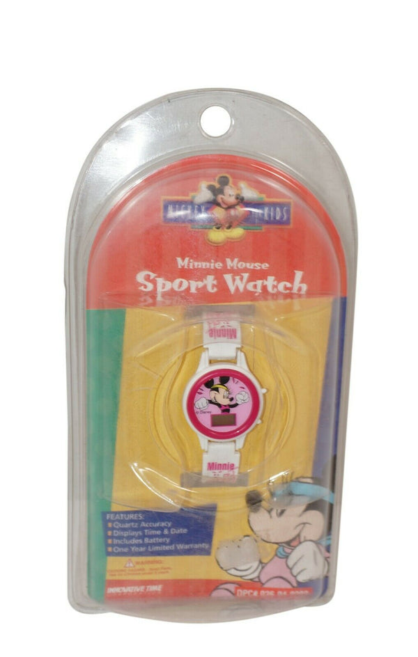 Vintage Disney Minnie Mouse Sport Digital Toy Watch for Kids - Needs Battery