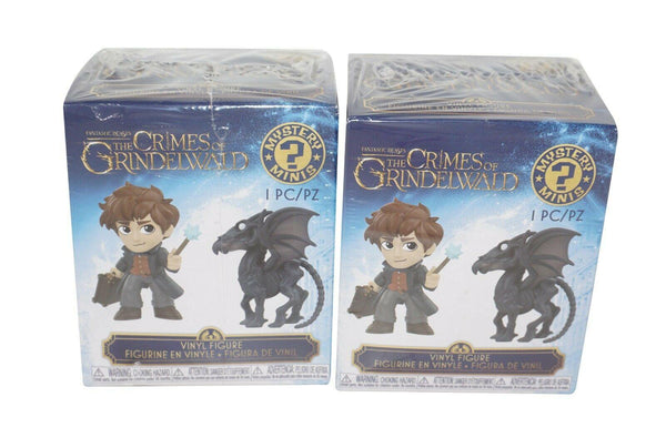 "2 PC LOT - THE CRIMES OF GRINDWALD 2.75"" TOY - VINYL BLIND BOX FUNKO FIGURE 2018"