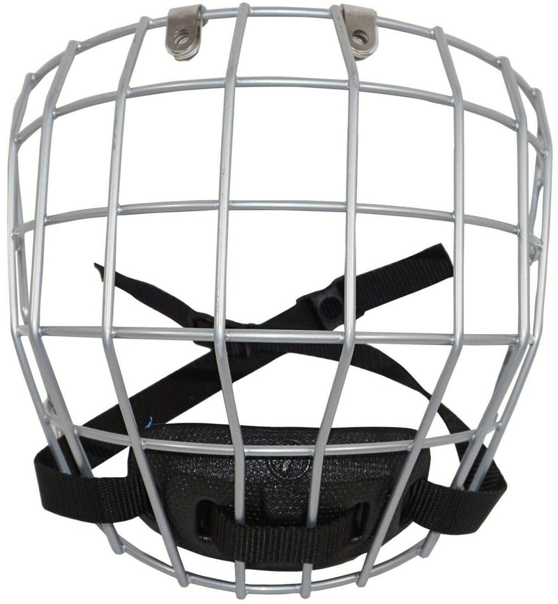 TRONX FULL FACE SILVER CAGE SR MEDIUM - FOR ADULT HOCKEY HELMET USED - EZ Monster Deals