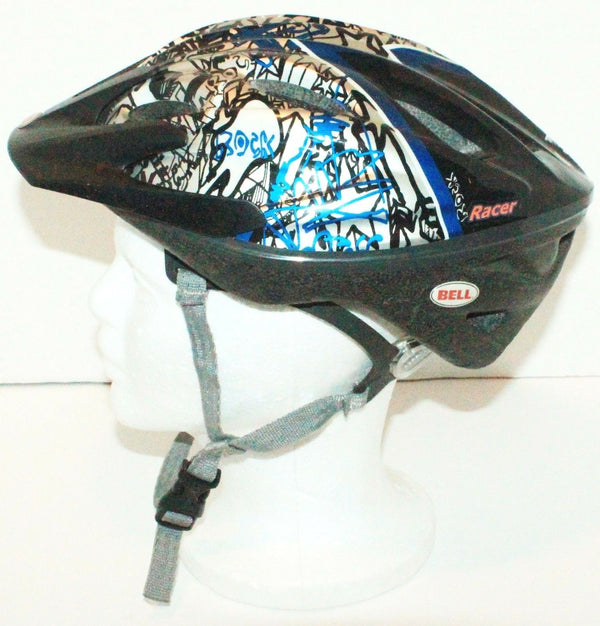 BELL CHILD BIKE KIDS TF3C ROCK STAR GRAFFITI DESIGN HELMET BLUE/SILVER USED 2010-EZ Monster Deals