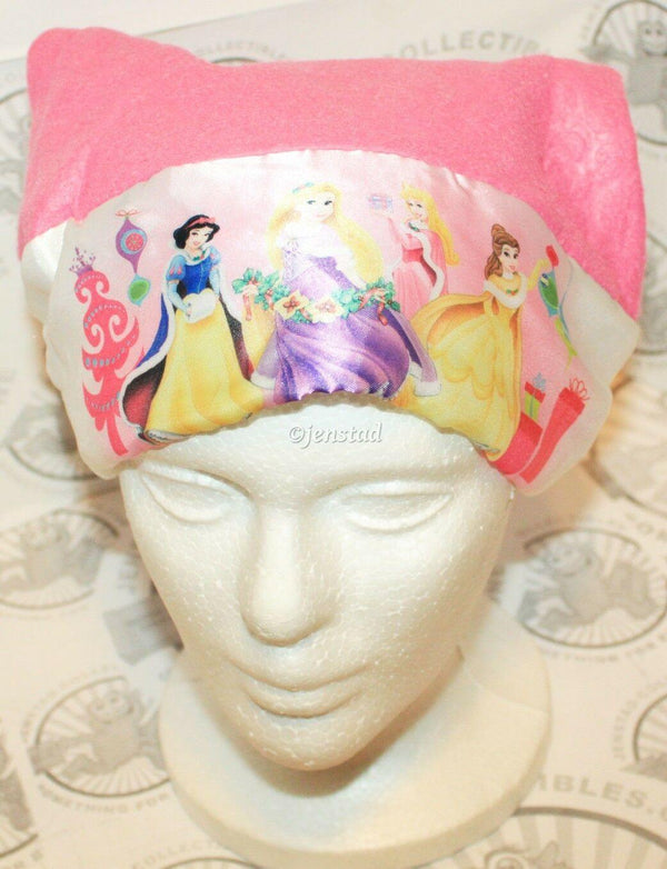"DISNEY PRINCESS MAGENTA SANTA HAT CHRISTMAS OR CASUAL DISNEY 15.5"" WOMEN OR GIRL - EZ Monster Deals"