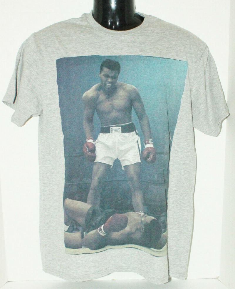 MUHAMMAD ALI KNOCKOUT TAUNT BOXING - SIZE SMALL GREY GRAY SHIRT - FLAWED-EZ Monster Deals