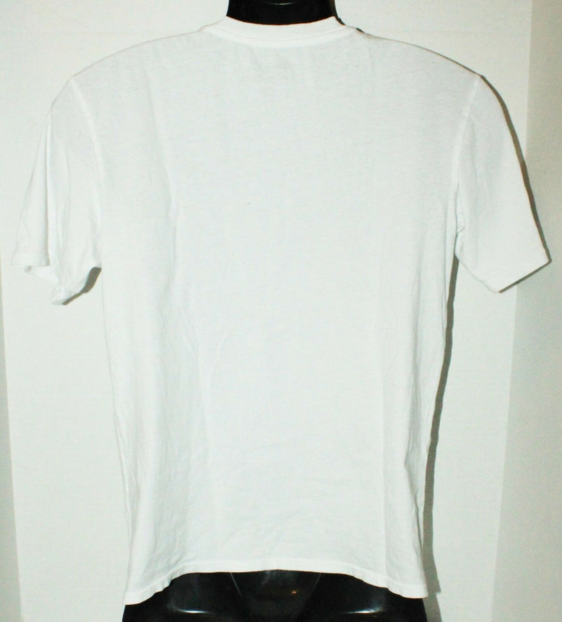 QUIKSILVER BRAND - KIDS APPAREL WHITE LOGO L SHIRT YOUTH LARGE OR FITS WOMEN