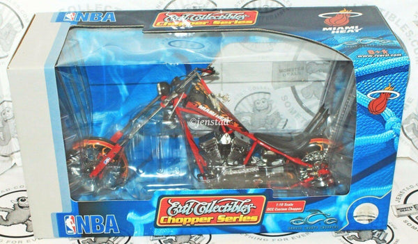 MIAMI HEAT BASKETBALL DIECAST MOTORCYCLE ERTL NBA 1:10 OCC CHOPPER NEW 2005